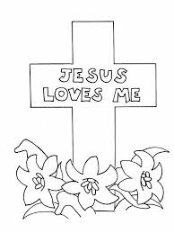 Good Friday Coloring Pages Jesus Loves Me