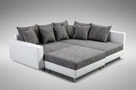 modernes sofa ecksofa eckcouch in weiss eckcouch mit hocker minsk r