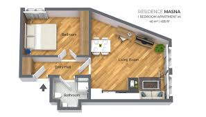 100 Small One Bedroom Apartments Apartment Type 4 Residence Masna