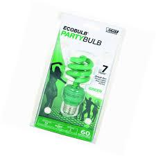 compact fluorescent 13w mini twist green light bulb ebay
