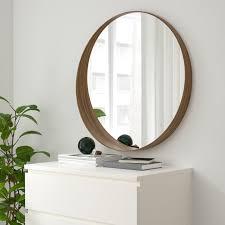 stockholm mirror walnut veneer 23 5 8 ikea runde