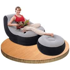 Intex Inflatable Pull Out Sofa Bed by Intex Inflatable Ultra Lounge Ottoman Sofa Chair Camping Portable