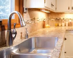 kitchen cabinets with glass on top vinyl subway tile backsplash