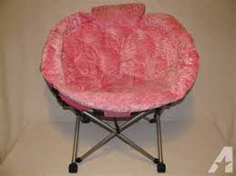 Girls Pink Fluffy Folding Chair For Sale In Ashland
