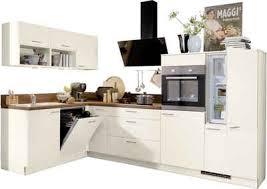 express küchen winkelküche scafa mit e geräten vormontiert mit vollauszü und soft funktion stellbreite 305 x 185 cm