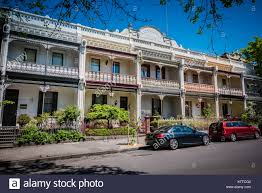 100 Melbourne Victorian Houses Victorian Style Town Houses On The Street Of Melbourne Stock