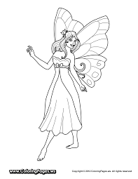 Fairy Princess Coloring Pages Printable Throughout