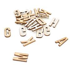 Bare Basics Adhesive Wooden Letters 200 Pack Hobbycraft