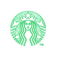 A Drawing Of The Starbucks Logo