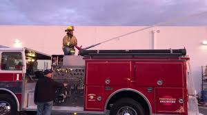 100 Fire Trucks Unlimited FOX5 Las Vegas BTS Look Who Got To Try Firefighting