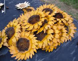 Rustic Tin Sunflower Wall Art