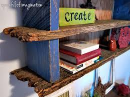 Wood Building Shelves by Diy Rustic Wood Shelf Spoonful Of Imagination