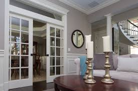 Classic Hide Away Double Pocket Doors Traditional Living Room