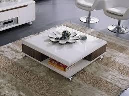 table basse laque blanc spitpod