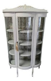 Pulaski Glass Panel Display Cabinet by Vintage U0026 Used Wood China And Display Cabinets Chairish