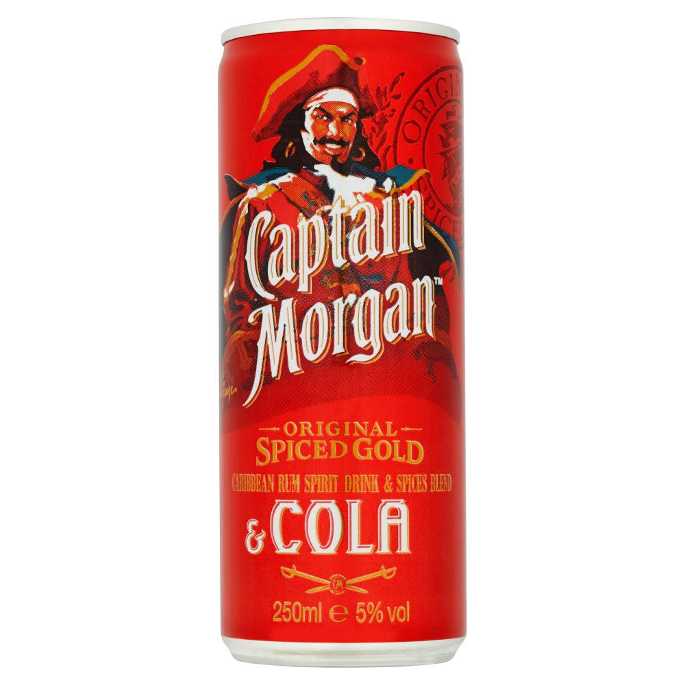 Captain Morgan Spiced Rum and Cola - 250ml