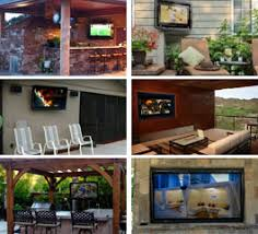 Weatherproof Outdoor TV Cabinet for Flat Screens