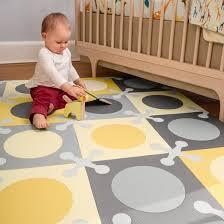 skip hop playspot interlocking foam tiles gold gray target