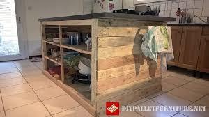 ile cuisine table d ile de cuisinemeuble en palette meuble en palette