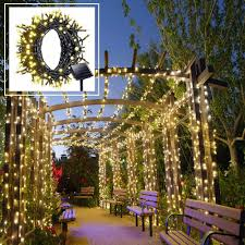 Christmas Tree Lights Amazon by Amazon Com Solar Led String Lights Outdoor Warm White Christmas