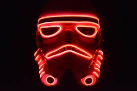 Star Wars Stormtrooper Pumpkin Stencil by Star Wars Stormtrooper Red El Wire Glow Mask Halloween Mask