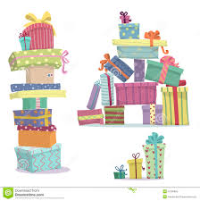 Piles of presents Doodle heaps of t boxes