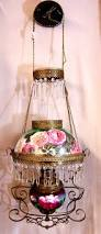 Hanging Oil Lamps Ebay by Antique Victorian Chandelier Oil Parlor Hanging Lamp Crystals