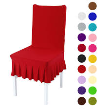 Stretchy Spandex Ruffled Skirt Short Dining Room Chair ... Spandex Chair Cover Burgundy Banquet Red Cindy Recipe Hi Bar Table Cloth Products For Absolutely Fabulous Events And Productions Deconovo Set Of 4pcs Color Covers Removable Stretch Slipcovers Ding Wedding Decor Premium Red Spandex Lycra Banquet Chair Covers Weddingsoccasions 1 4 6 10 20 30 40 50 70 100 Lifetime Folding Lellen Piece New Design Special Large Polyester Xl Hight Back Seat Room Banquet Best Promo 2987 Christmas Decoration Lacys Rentals Denver Colorado High Quality Soft Slipcover
