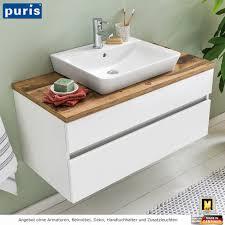 puris zoom waschtisch als set mit aufsatzwaschtisch 100 cm