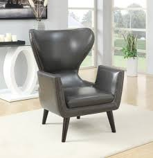 Coaster Furniture - 902409 - ACCENT CHAIR (CHARCOAL) Coaster Fine Fniture 902191 Accent Chair Lowes Canada Seating 902535 Contemporary In Linen Vinyl Black Austins Depot Dark Brown 900234 With Faux Sheepskin Living Room 300173 Aw Redwood Swivel Leopard Pattern Stargate Cinema W Nailhead Trimming 903384 Glam Scroll Armrests Highback Round Wood Feet Chairs 503253 Traditional Cottage Styled 9047 Factory Direct