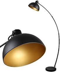 stehle arc osasy vintage stehleuchte retro stehleuchten in schwarz golden verstellbarer lenschirm 1x e27 max 60 watt 165 cm stehle