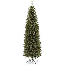 9 Ft White Pencil Christmas Tree by Amazon Com Best Choice Products 7 5 Ft Premium Hinged Fir Pencil