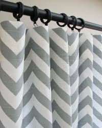 Grey And White Chevron Curtains 96 by Smocked Drape Potterybarn Love Them Did Not Want Curtains In