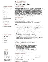 Wonderfull Design Ca Spectacular Call Center Supervisor Resume Example