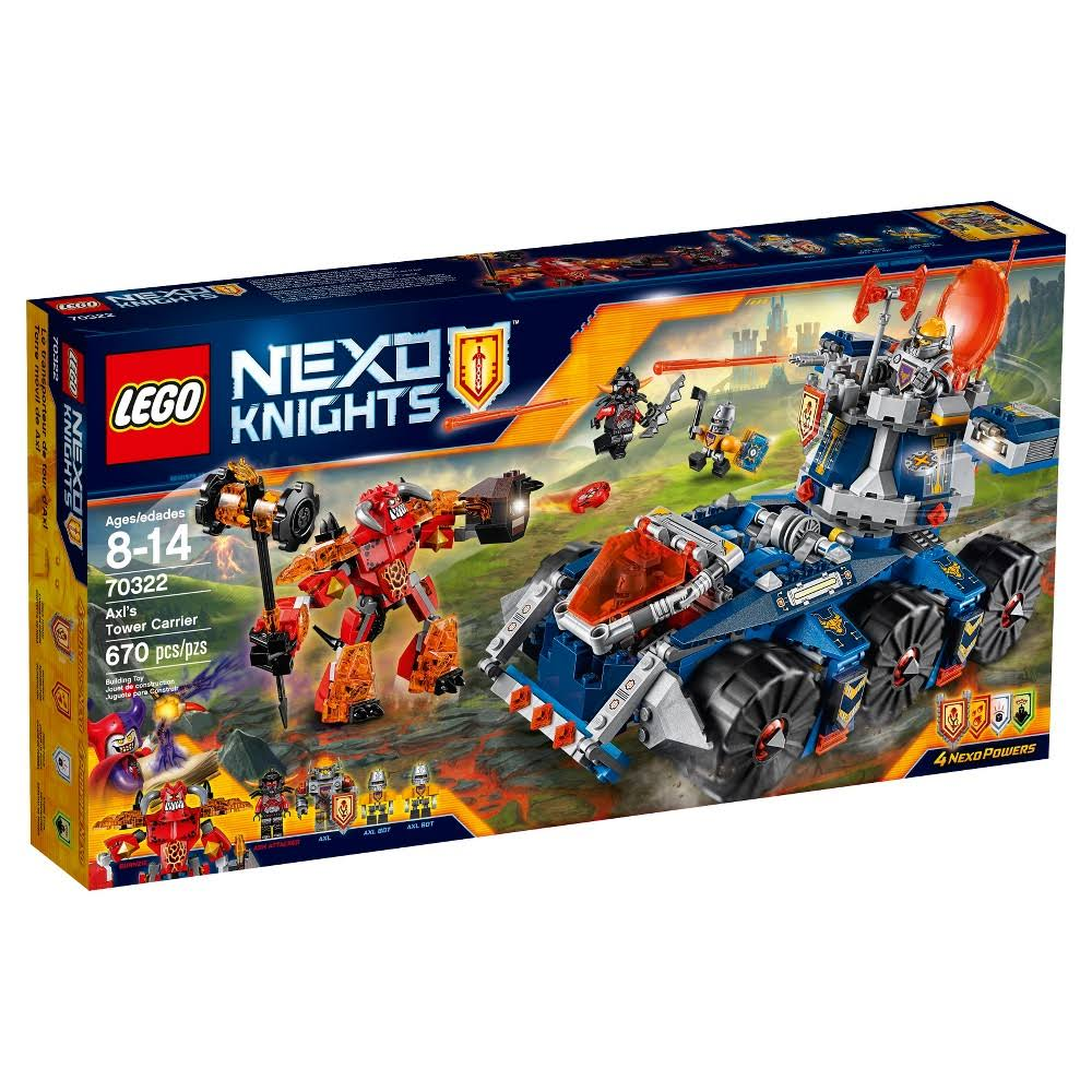 Lego Nexo Knights 70322 Axls Tower Carrier - 670 Pieces