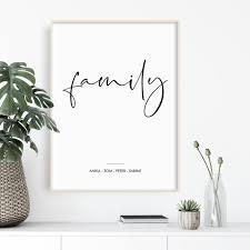 poster wohnzimmer personalisiertes schwarz weiss poster geschenk für familie poster familie poster liebe skandinavisches poster