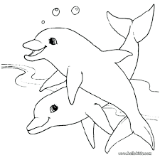 Dolphin Coloring Pages Out Cartoon Lisa Frank Free