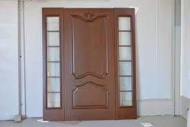 Modern Front Door Custom Double Solid Wood With Dark