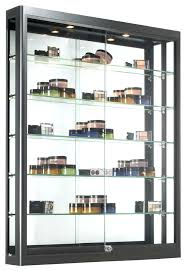 Wall Glass Cabinet Display Cases For Collectibles Wood And Case