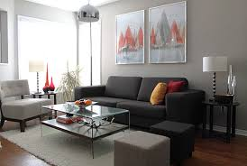 Decorating With Chocolate Brown Couches by Furniture Modern Minimalist Apartment With Classy Living Room