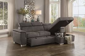 Taupe Sofa Living Room Ideas by Ferriday Modern Style Taupe Polyester Fabric Sectional Pull Out
