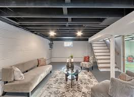 100 Exposed Ceiling Design Stylist And Luxury Finished Basement With 36