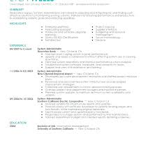 Linux System Administrator Resume Windows Sample Experience Best Of Admin