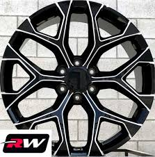 100 Chevy Silverado Truck Parts 20 Inch 20 X9 Wheels For 1500 Black Milled Rims