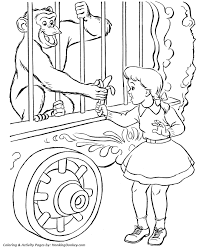 Circus Monkey Coloring Page