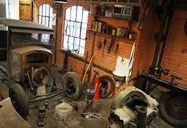 Download Vintage Garage Inside Stock Photo Image Of Tools