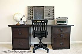 Pottery Barn Office Desk Accessories by An Office And A Gentleman Bless U0027er House