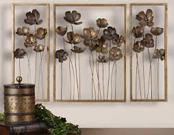 Three Frames Flowers Sculptures Gold Rustic Large Pinterest Wonderful Metal Wall Art Decor Classic Design