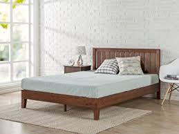 Amazon Super King Headboard by Amazon Com Zinus 12 Inch Deluxe Wood Platform Bed With Headboard