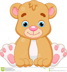 Cute Baby Bear Cartoon Stock Illustration Of